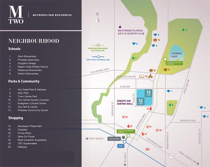 Coquitlam City Centre map.