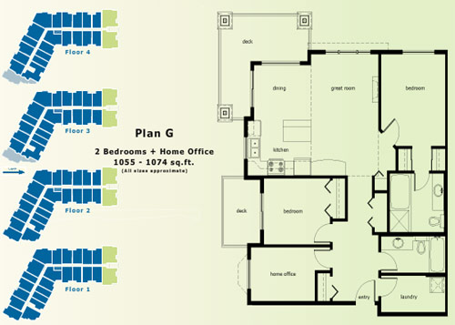 Abbotsford condo floor plans.
