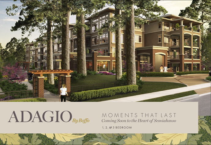 Adagio by Boffo - a new South Surrey real estate development featuring affordable yet luxury Surrey apartments.