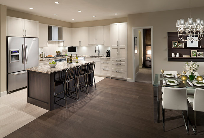 Well designed and functional kitchen layouts at Adagio Surrey presale condos.