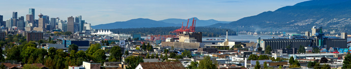 Panoramic views from this East Vancouver town home development by AREE Holdings.