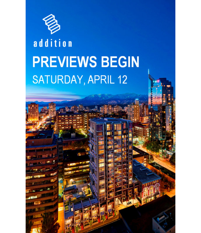 VIP Previews Addition Vancouver condo tower.