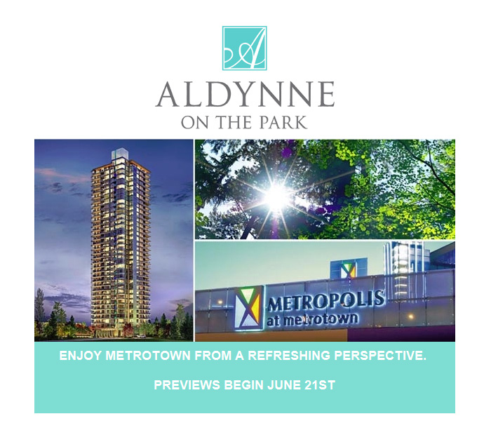 An email introduction to Polygon Aldynne Burnaby Metrotown condos for sale.