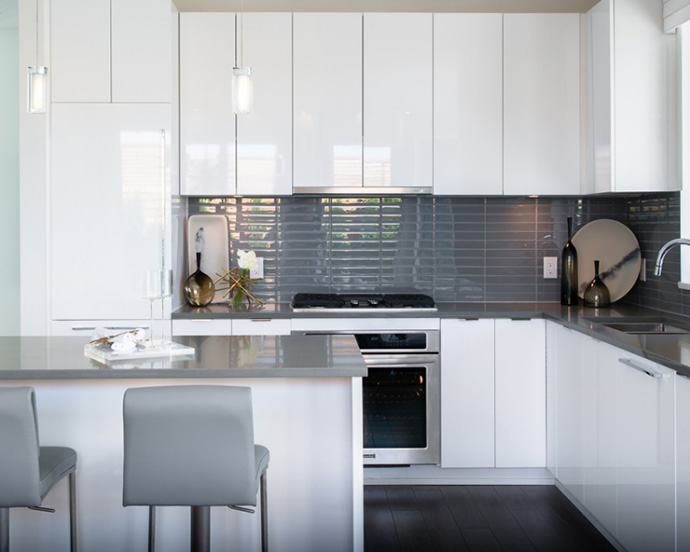 Kitchens at Alexandra Court Belgravia by Polygon condos.