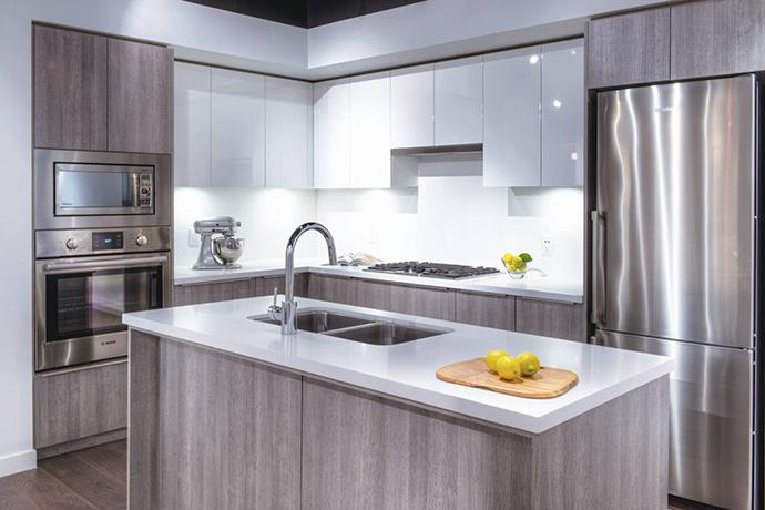 ALFA Richmond Centre Condo kitchen design.