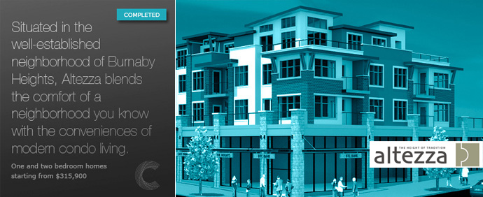 The Altezza Burnaby Apartment development by Censorio Group developers.