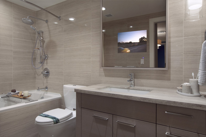 Spa like bathrooms will feature deep soaking tubs and luxurious white finishes