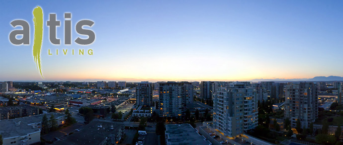 Incredible view from the new ALTIS Richmond condo tower