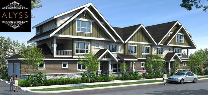 Inspire Group Alyss Richmond townhome project with only 12 homes for sale.