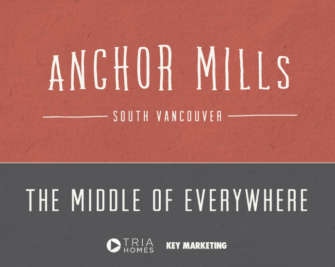 Marketing taglines for the boutique Anchor Mills Vancouver townhome project.