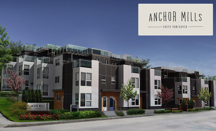Rendering of the new River District Vancouver Anchor Mills homes for sale by Tria Homes.