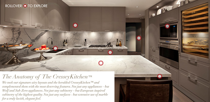 The CresseyKitchen at Arbutus Ridge condos.