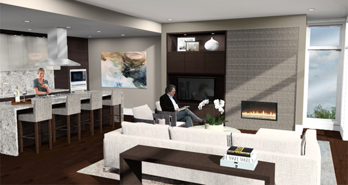 Beautifully designed interiors at the luxury West Van homes.