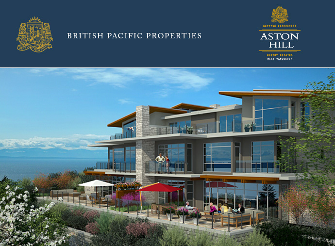 Rendering Of The Luxury West Vancouver Aston Hill Estate Homes.