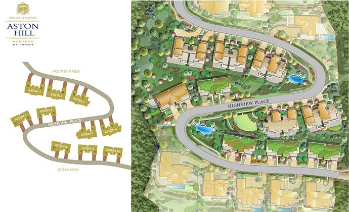 Whitby Estates Aston Hill site plan.