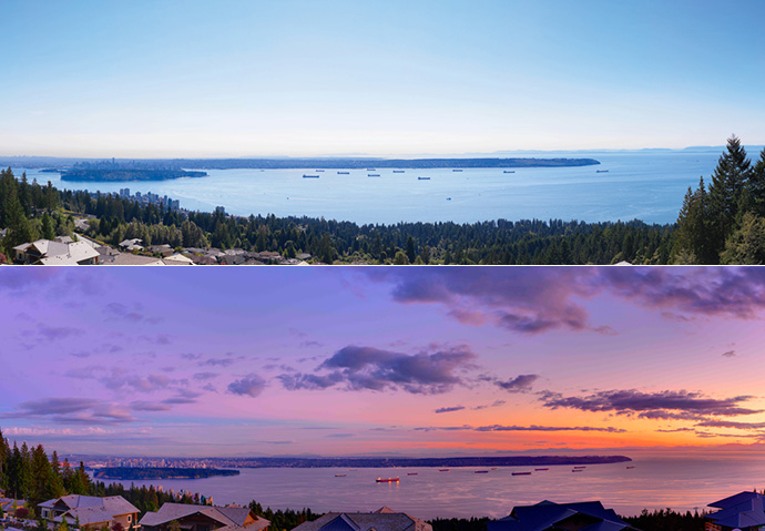 Incredible views from the West Vancouver British Properties.