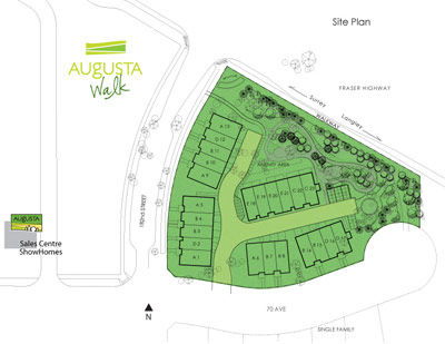 The new Cloverdale homes for sale at Augusta Walk at Provinceton offers 2 and 3 bedroom townhouses for sale.