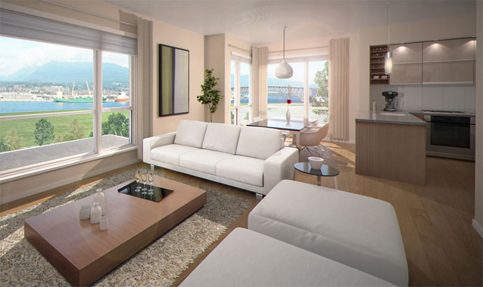 Luxurious interior finishes are offered at the pre-construction Vancouver AVANT Condos & Townhomes for sale