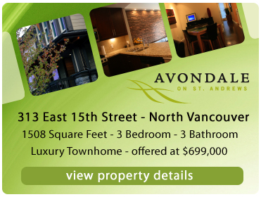 The best and most affordable family townhouse for sale in North Vancouver Central Lonsdale is this Avondale home for sale.