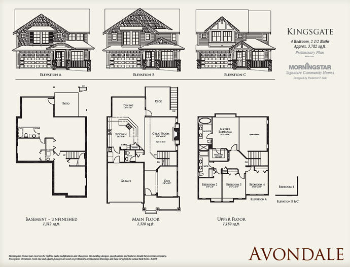 New vancouver condos for sale presale lower mainland Avondale house plan