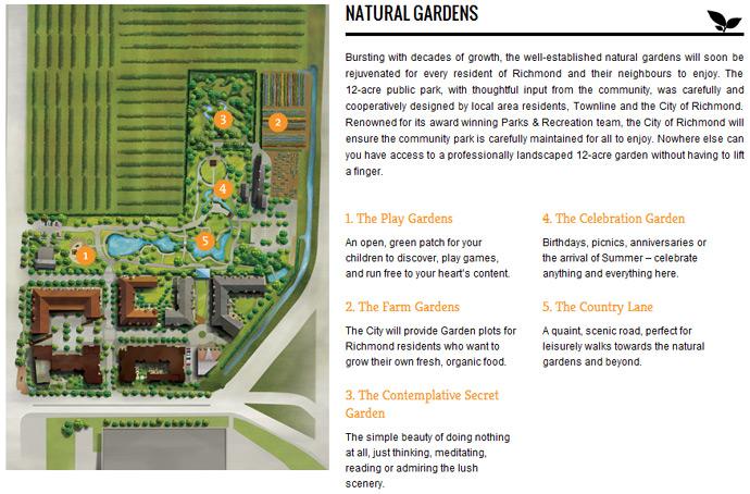 The landmark master planned Richmond Azalea condos at The Gardens community