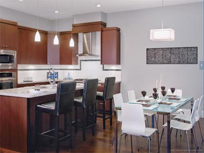The pre-construction Morgan Heights town houses at Azure South Surrey living are now previewing.