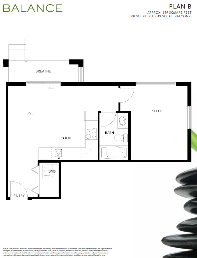 Presale Surrey Balance floorplan available now.