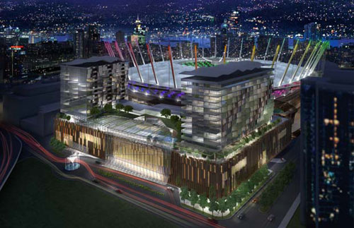 The proposed BC Place Casino and Hotel project are now confirmed by the BC Government including the renovation and addition of the BC Place retractable roof project.
