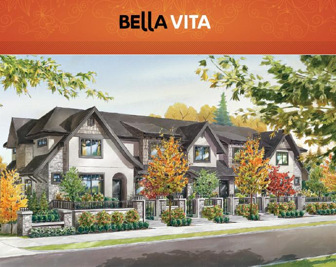 The Clayton Village Surrey Bella Vita Townhomes by Gramercy Development.
