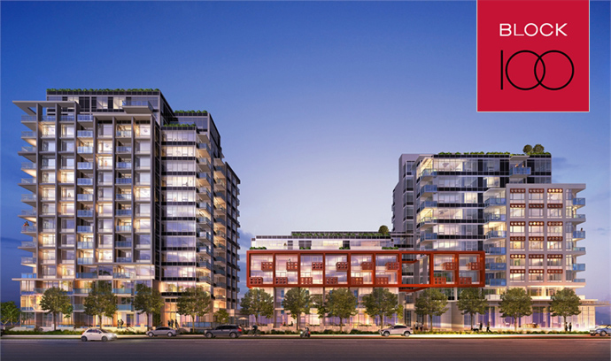 Southeast False Creek Vancouver Block 100 Condos by Onni Group of Companies is launching Fall 2012.