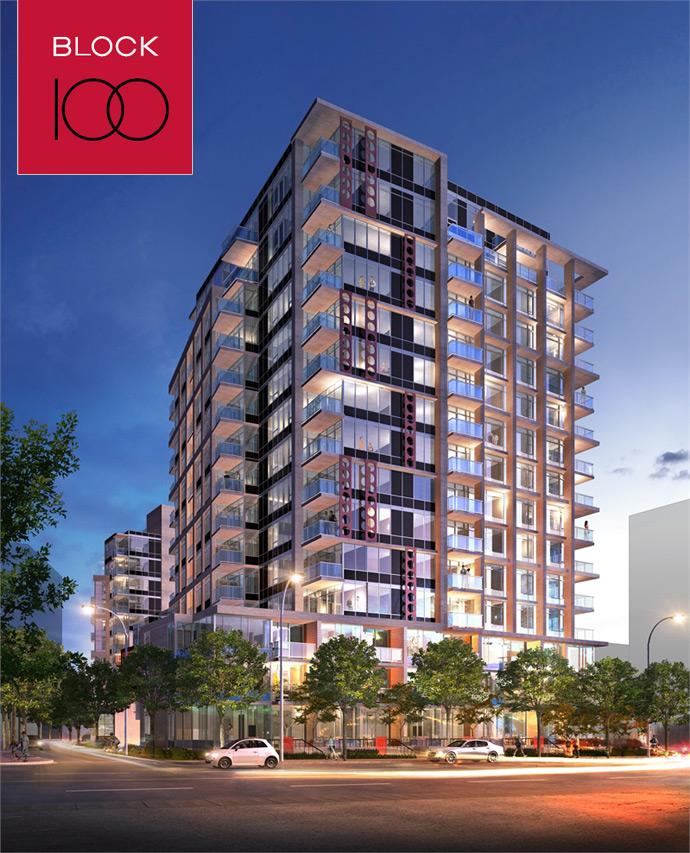 The preconstruction Vancouver Block 100 False Creek condos for sale.