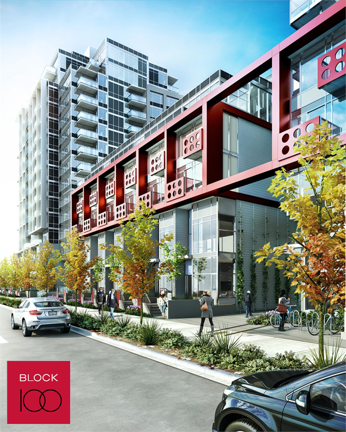 Master planned and multi phased Onni Vancouver Block 100 South East False Creek waterfront apartments.