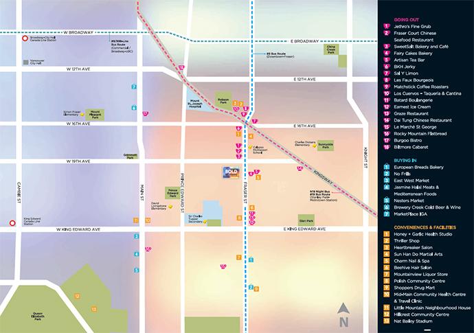 Vancouver Bold condo map.