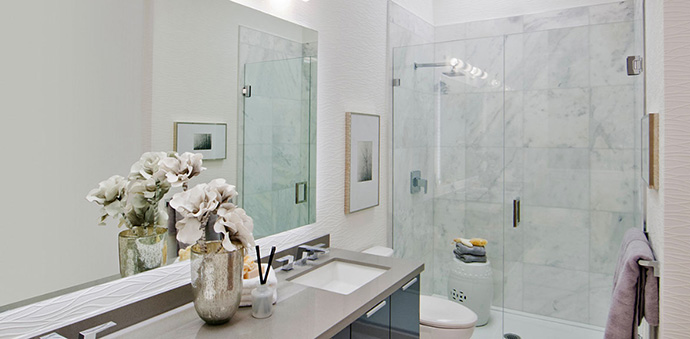 Luxury deluxe bathrooms at The Boulevard Vancouver private residences.