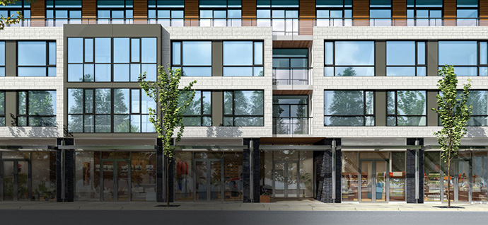 Modern sophistication at the boutique Kerrisdale Boulevard Vancouver condos at 37th Avenue and West Boulevard.