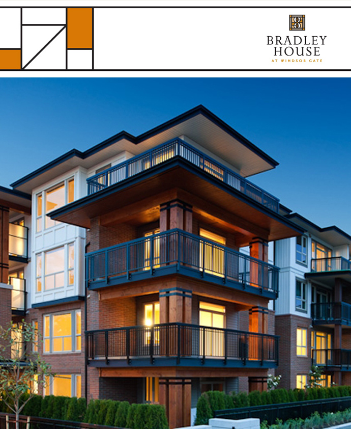 The Bradley House at Windsor Gate Coquitlam real estate development.