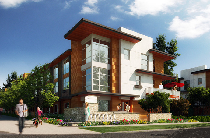 Cirrus Collection at Breeze Surrey real estate development rendering.