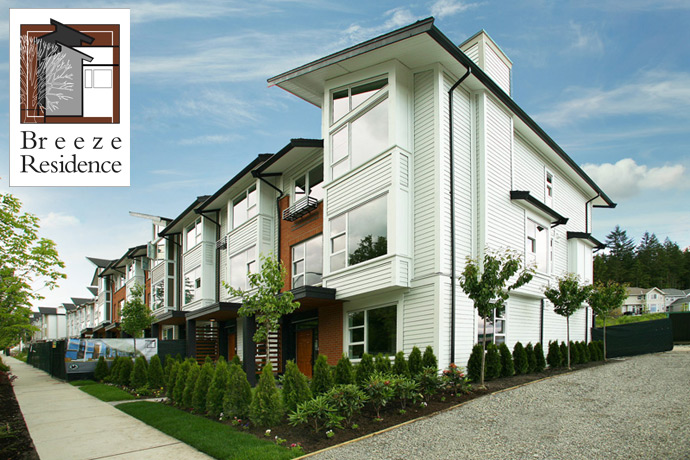 A new collection of Burke Mountain Coquitlam townhomes are coming to Breeze Residences by Gardenia Homes Ltd.