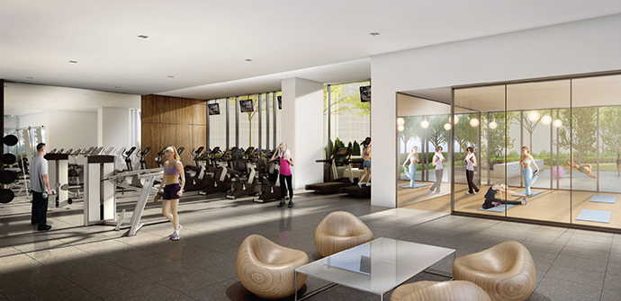 Great on-site amenities at Phase 2 Amazing Brentwood by SHAPE Living.