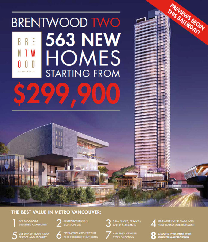 The Amazing Brentwood Phase 2 in Burnaby real estate market now.