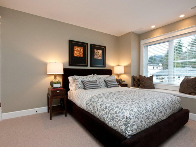The master bedrooms are oversized with walk in closets and ensuite bathrooms.