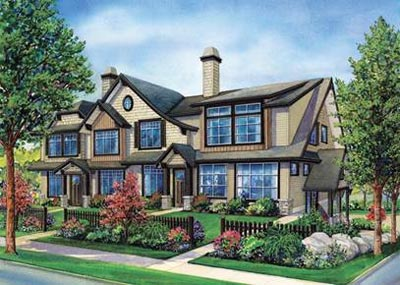 Rendering of the new Maple Ridge Brighton Townhouses for sale.