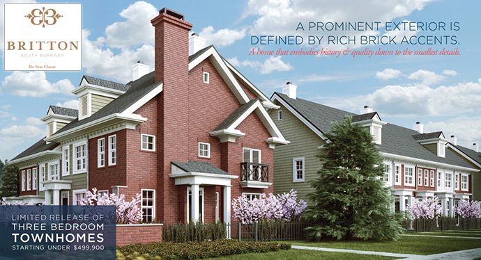 Red Brick Britton Burnaby Townhomes for sale.