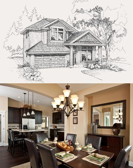 The Ambleside floorplan and Fairview home plan at the Coquitlam Burke Mountain Heights community.