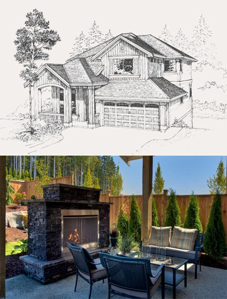 The Paramount and Ridgewood house plans in Burke Mountain Coquitlam home community.