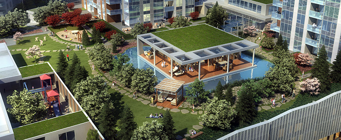 Boutique Cadence Richmond condos for sale have urban gardens and outdoor spaces for amenities.