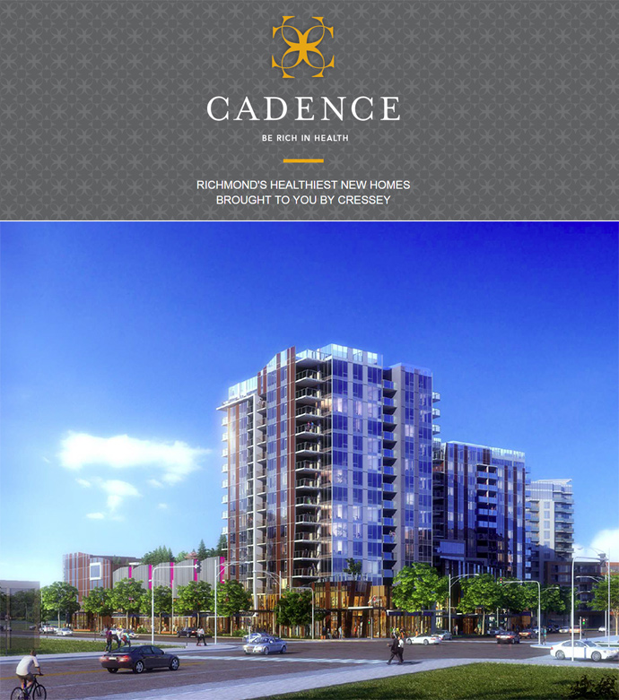 Oval Village Richmond Cadence condos and townhomes.