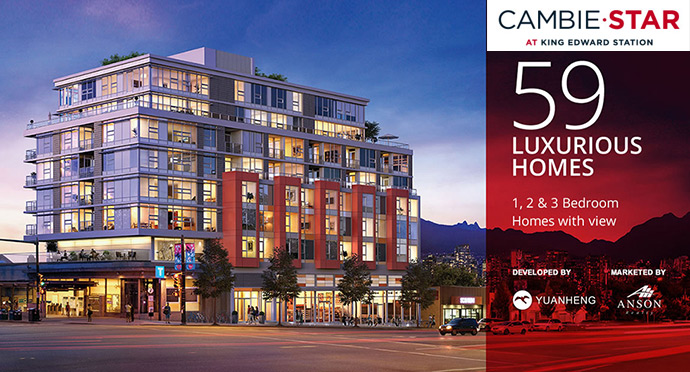Westside Vancouver CambieStar Condos for Sale.