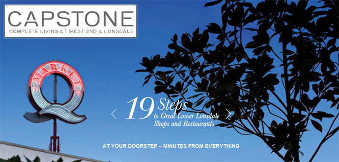 The Lower Lonsdale North Vancouver CAPSTONE Condos by Fairborne Capstone Homes Ltd.