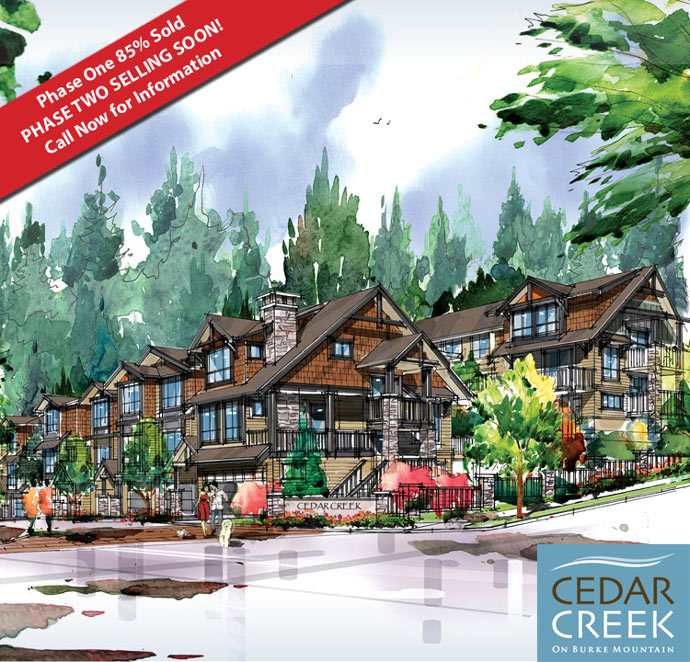 The second phase of Cedar Creek Coquitlam townhomes by Intergulf Developments is now underway.